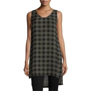 Eileen Fisher Gingham Silk Tunic